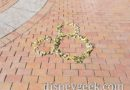 Leaf art in Town Square at Disneyland