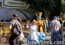 Alice & Mad Hatter passing by Tomorrowland