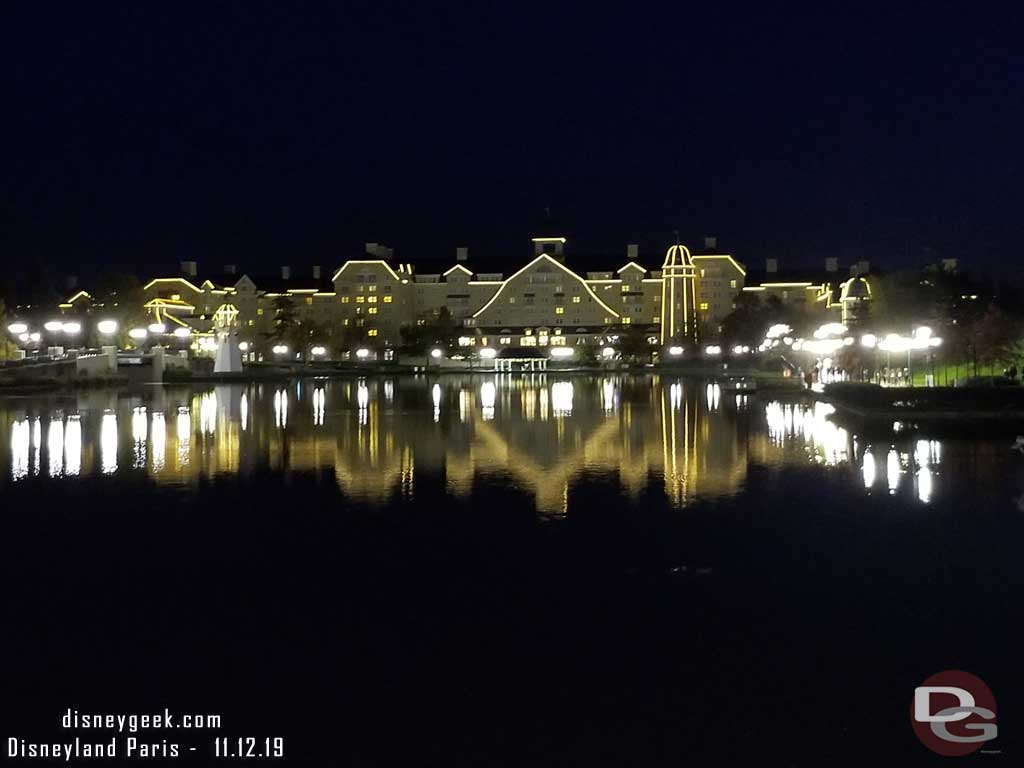 Disney's Newport Bay Club across the lake