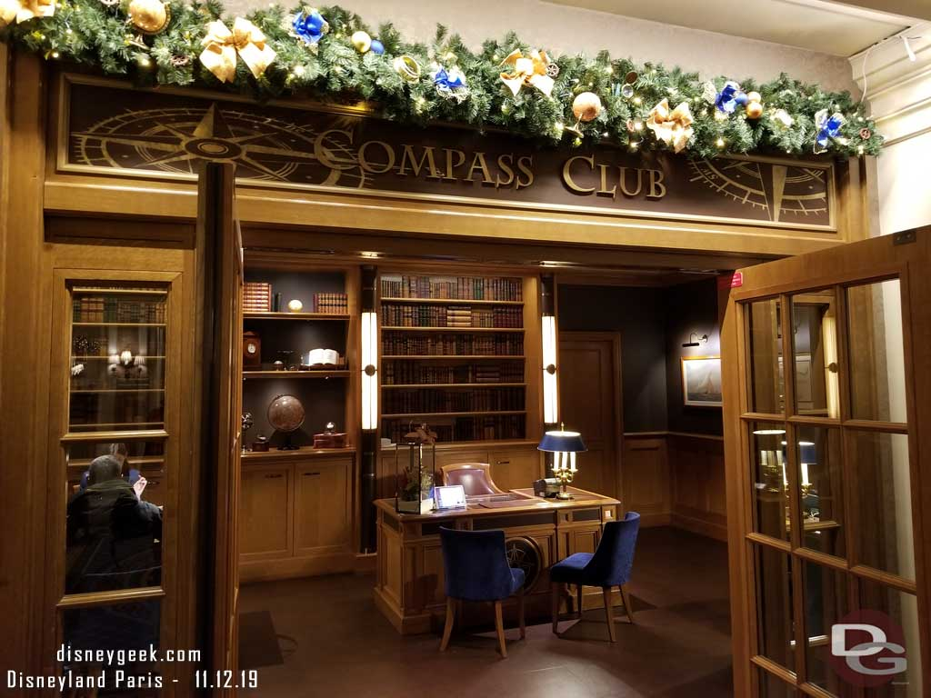 Compass Club Private Reception Desk is located to the right as soon as you enter the hotel.
