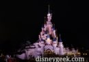 Disneyland Paris Sleeping Beauty Castle this evening