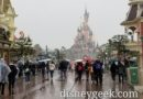 There is a wet snow falling at Disneyland Paris this afternoon
