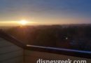 Sunrise from the Newport Bay Club at Disneyland Paris