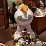 Olaf joined us for breakfast this morning at the Compass Club