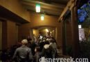 A backup at the Grand Californian Security Check for DCA right now