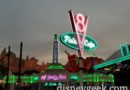 Stopped by Radiator Springs to watch the lights come on (Picture & Video)