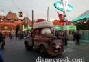 Santa Mater rolling along Route 66 to the Cozy Cone