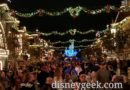 Disneyland Main Street USA this evening