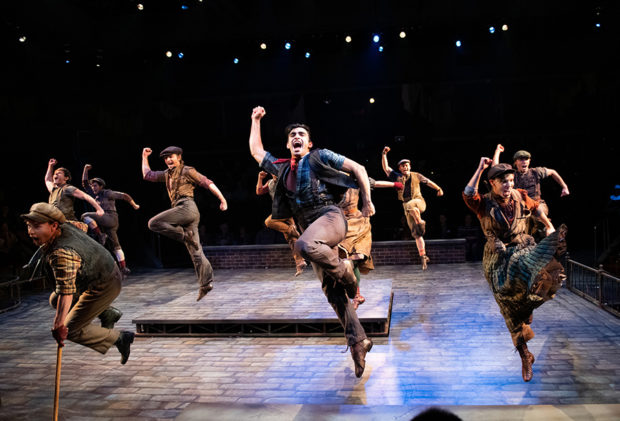 Cast of Disney's Newsies at Arena Stage