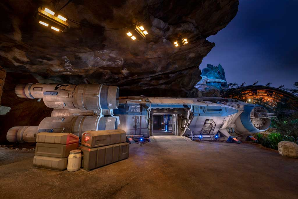 Guests board an Intersystem Transport Ship to blast off Batuu alongside other Resistance recruits as part of Star Wars: Rise of the Resistance, opening Dec. 5, 2019, at Disney's Hollywood Studios in Florida and Jan. 17, 2020, at Disneyland Park in California. The groundbreaking new attraction inside Star Wars: Galaxy's Edge takes guests into a climactic battle between the Resistance and the First Order. (Kent Phillips, photographer)