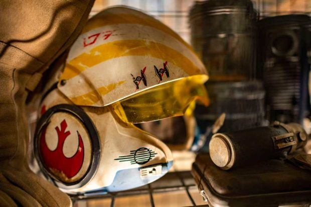 As guests move through the queue in Star Wars: Rise of the Resistance, they see flight suits and other military equipment inside the Resistance encampment. The queue sets the stage for the groundbreaking new attraction, opening Dec. 5, 2019, inside Star Wars: Galaxy's Edge at Disney's Hollywood Studios in Florida and Jan. 17, 2020, at Disneyland Park in California that takes guests into a climactic battle between the Resistance and the First Order. (Matt Stroshane, photographer)