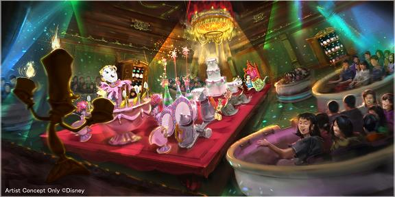 Scene from the Enchanted Tale of Beauty and the Beast attraction