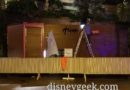 Working on the Asian Street Eats Sign this evening in Downtown Disney