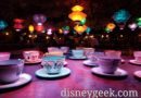 Tea Cups are closed this evening at Disneyland because of the rain earlier today