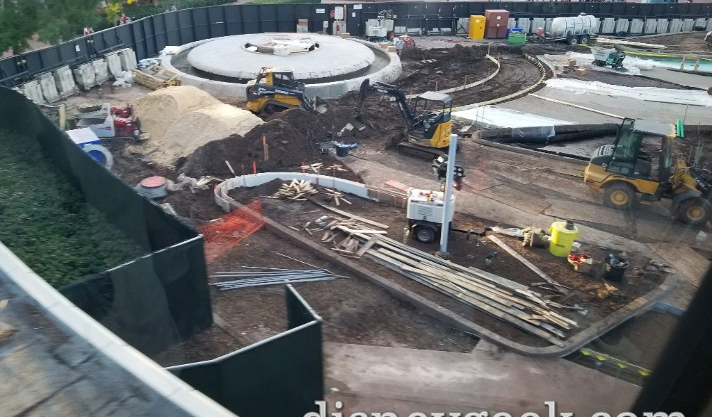 WDW Pictures: Epcot Construction from Monorail (12/10/19)