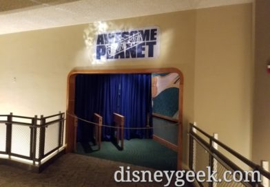 Awesome Planet Coming Soon sign in The Land at Epcot