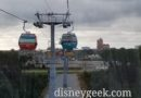 Skies are darkening as I approach Disney's Hollywood Studios on the Disney Skyliner