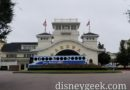 Disney's Boardwalk front entrance as I walk to the bus stop to start my day