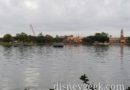 Epcot World Showcase lagoon this morning