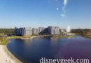 Flying by Disney's Riviera Resort on the Skyliner