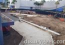 WDW Pictures & Video: Epcot Walkway Projects from Monorail (12/17/19)