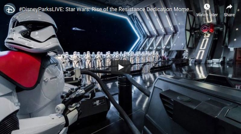 Star Wars: Galaxy's Edge Dedication Moment Webcast