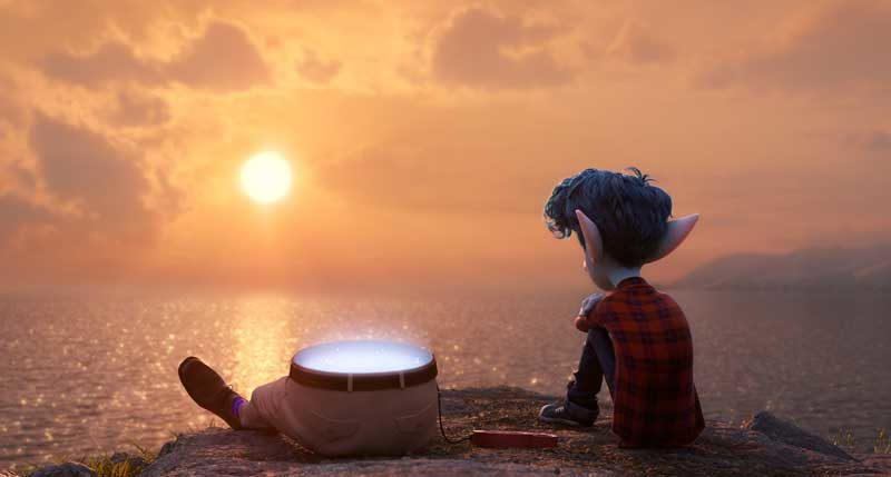 "FATHER & SON -- In Disney and Pixar's ""Onward,"" 16-year-old Ian (voice of Tom Holland) yearns for the father he lost back before he was born. When a magical gift allows Ian and his brother Barley to conjure their dad—or half him, anyway—Ian's dreams of getting the fatherly advice he's always sought just might come true. Directed by Dan Scanlon and produced by Kori Rae, ""Onward"" opens in U.S. theaters on March 6, 2020. © 2019 Disney/Pixar. All Rights Reserved."