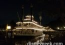 Mark Twain Riverboat Cruising Into Position for Fantasmic
