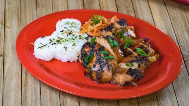 Korean barbecue glaze chicken dish (David/Nguyen Disneyland Resort)