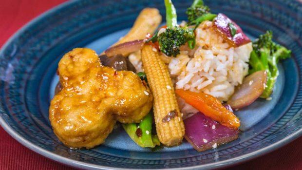 Orange tempeh dish (David/Nguyen Disneyland Resort)
