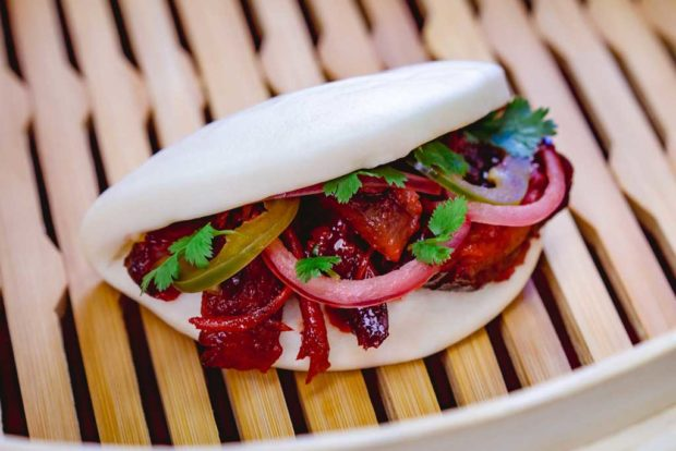 Char siu pork bao with barbecued pork, pickled red onions and jalapeño (David/Nguyen Disneyland Resort)