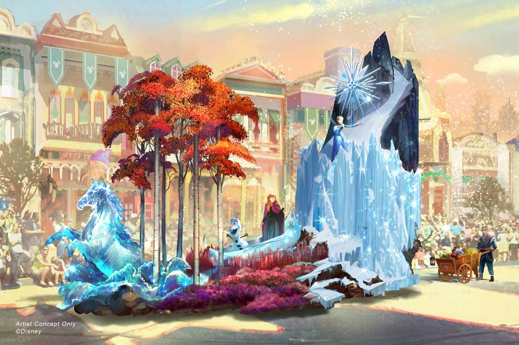 "Depicted in this image, from Walt Disney Animation Studios' ""Frozen 2,"" Anna and Elsa explore the mysteries of an enchanted forest protected by Nokk, the mystical water spirit, as their friends Kristoff, Sven and Olaf tag along. (Disney)"
