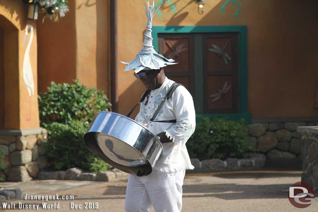 Merry Menagerie @ Disney's Animal Kingdom - Steel Drum Player
