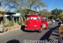 Red Cruising Along Cross Street in Cars Land