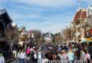 Disneyland Main Street USA this afternoon