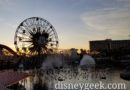World of Color Preparation as the Sun Sets