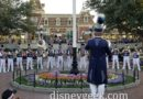 Disneyland Band in Town Square for the nightly Flag Retreat