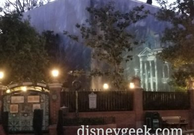 Pictures: Haunted Mansion Renovation Scrim & Wall Artwork