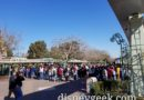 Disneyland entrance this afternoon