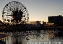 Sunset at Paradise Bay with World of Color Fountains Rehearsing for Tonight