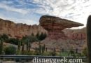 My dinner view today – Ornament Valley Cars Land