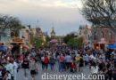 Disneyland Main Street USA at 5:30pn