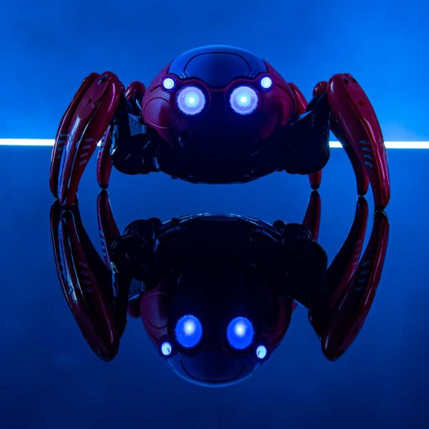 The Spider-Bots seen in WEB SLINGERS: A Spider-Man Adventure. Guests will be able to build and battle their Spider-Bots to gain a new sidekick as they train to be a part of the next generation of Super Heroes. (David Roark/Disneyland Resort)