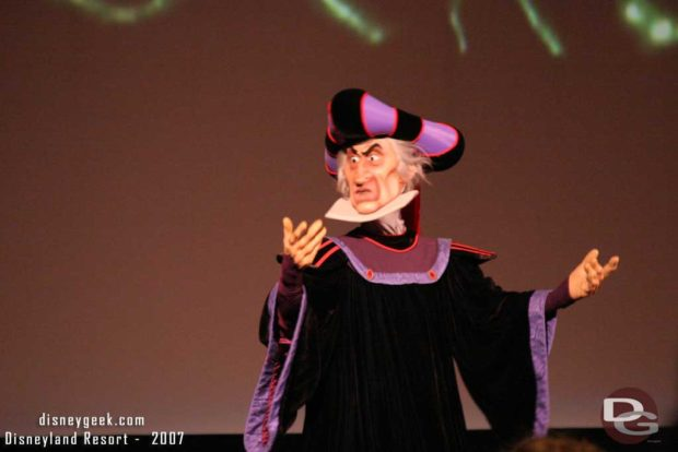 Claude Frollo at the Golden Screams Awards