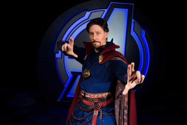 Doctor Strange demonstrating mystic arts in The Sanctum. (Joshua Sudock/Disneyland Resort)