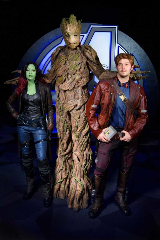 Groot and the Guardians of the Galaxy (Joshua Sudock/Disneyland Resort)