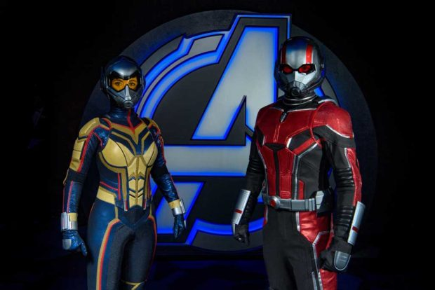Ant-Man (right) and The Wasp will appear at Disneyland Resort for the first time when Avengers Campus opens this summer. (Joshua Sudock/Disneyland Resort)