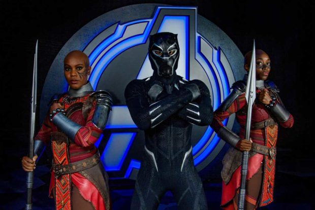 Recruits can train with Black Panther's loyal bodyguards, the Dora Milaje, to learn wisdom from Wakanda and what it's like to be to be a member of this elite royal guard. (Joshua Sudock/Disneyland Resort)