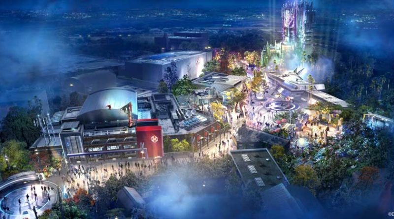 Avengers Campus opens July 18, 2020, at Disney California Adventure Park in Anaheim, California, inviting guests of all ages into a new land where they will sling webs on the first Disney ride-through attraction to feature Spider-Man. The immersive land also presents multiple heroic encounters with Avengers and their allies, like Iron Man, Black Widow, Black Panther and more. At Pym Test Kitchen, food scientists will utilize Ant-Man and The Wasp's shrinking and growing technology to serve up perfectly sized snacks. (Disneyland Resort)
