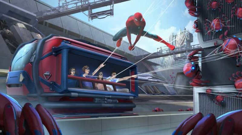 WEB SLINGERS: A Spider-Man Adventure in Avengers Campus at Disney California Adventure Park in Anaheim, California, will allow Super Hero recruits to put their web-slinging skills to the test as they team up with Spider-Man to capture his out-of-control Spider-Bots before they wreak havoc on the Campus. Avengers Campus opens July 18, 2020. (Disneyland Resort)